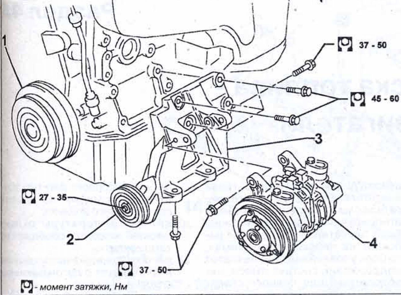 Схема установки ремня генератора vw t4