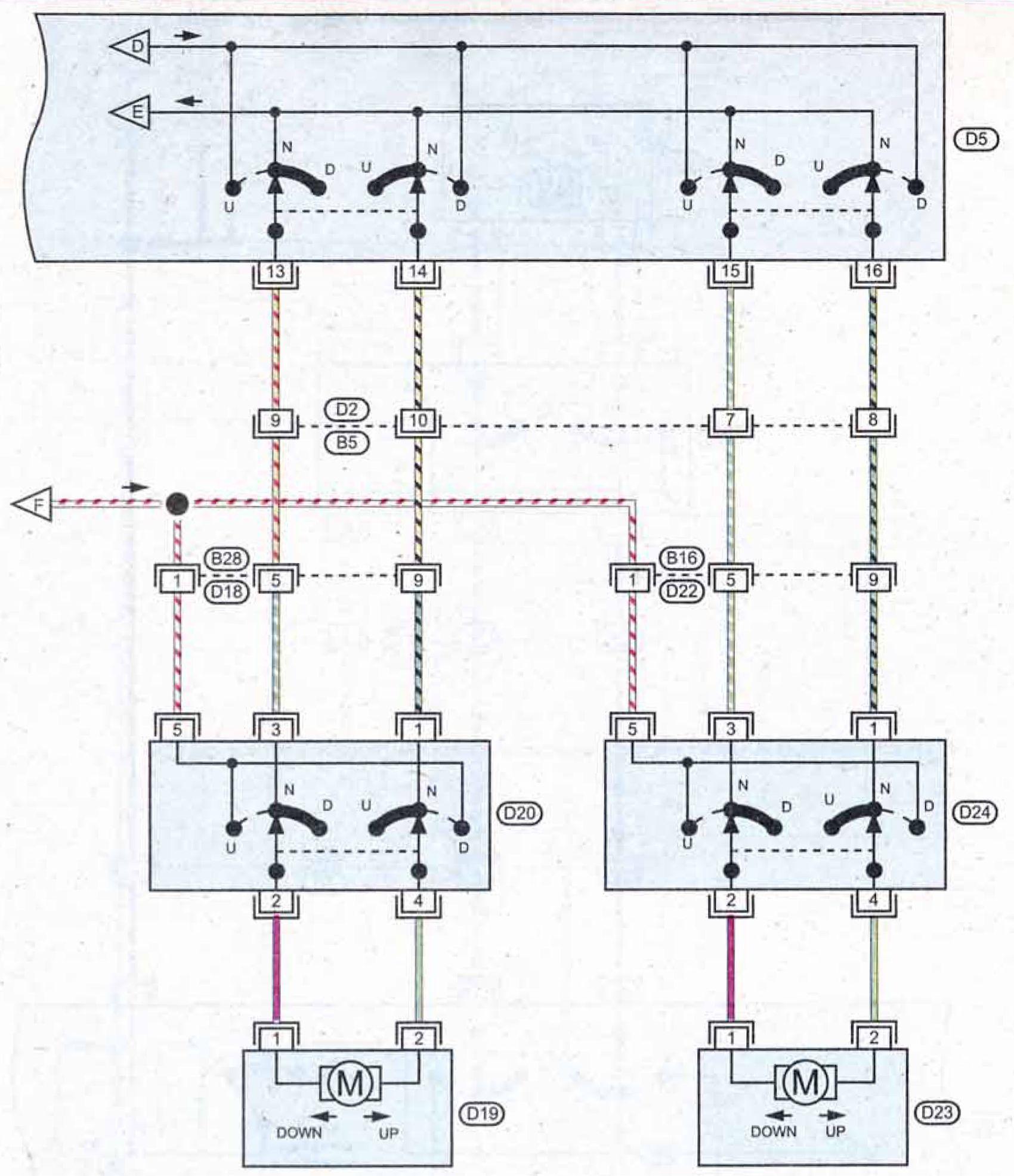 Рено меган 2 схема подключения стеклоподъемников