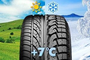 Отличия зимних шин от летних